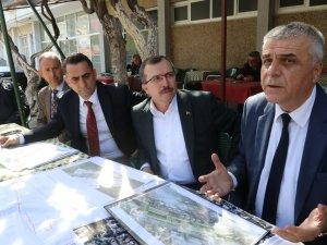 Cumhur ittifakı Akhisar Belediye Başkan Adayı Hüseyin Eryüksel, pazar pazarı ve eski tren garı proje