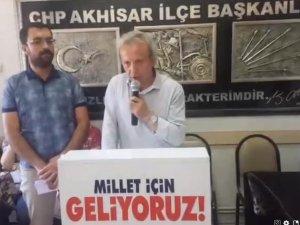Akhisar CHP İlçe Teşkilatı Madımak katliamı anma basın açıklaması